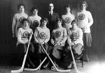 The Edmonton Swastikas, a Canadian womens' ice hockey team, c.1916