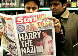 Price Harry makes the papers for appearing as a Nazi soldier at a fancy dress party